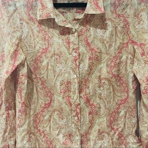J. Crew Tops - J Crew | The Perfect Shirt in Paisley
